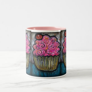 Hello Cupcake Two-Tone Coffee Mug