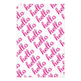 Hello Cute Colorful Hello Gifts Custom Stationery