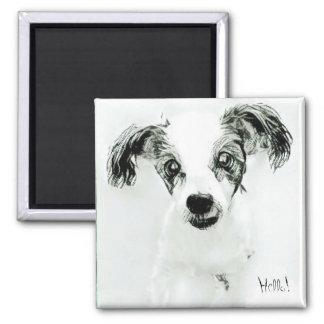Hello Cute Dog Magnet