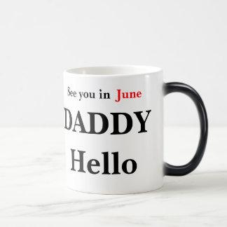Hello Daddy Pregnancy Reveal Coffee Mug