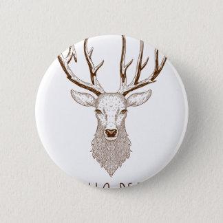 Hello Deer 6 Cm Round Badge