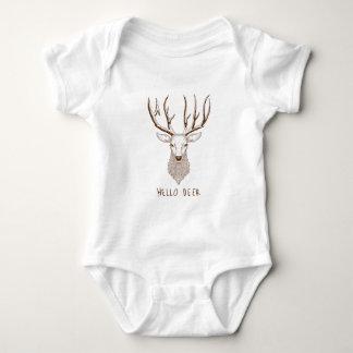 Hello Deer Baby Bodysuit