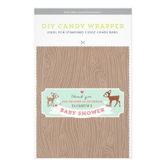 Hello Deer! Baby Shower 1.55oz Candy Bar Template 14 Cm X 21.5 Cm Flyer