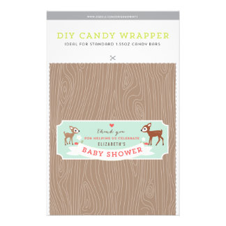 Hello Deer! Baby Shower 1.55oz Candy Bar Template Flyer