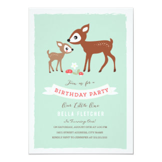 Hello Deer! Birthday Party Invite