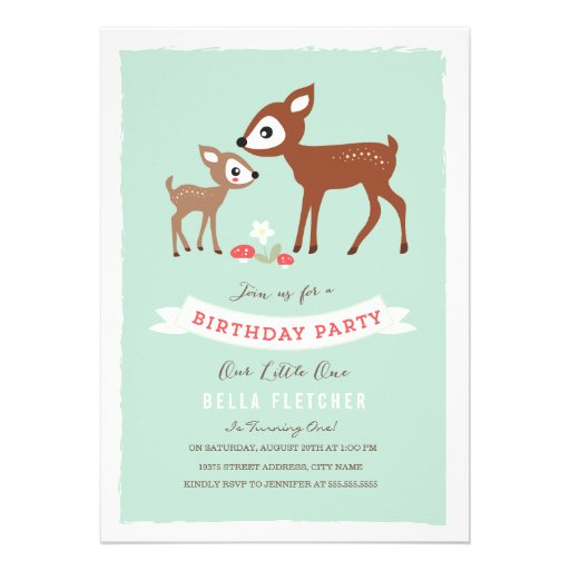 Hello Deer! Birthday Party Invite