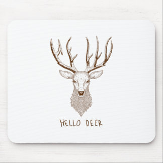 Hello Deer Mouse Pad