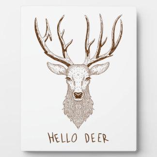 Hello Deer Plaque