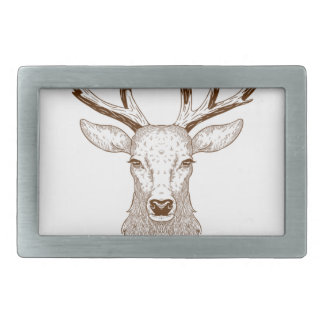 Hello Deer Rectangular Belt Buckle