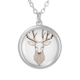 Hello Deer Silver Plated Necklace