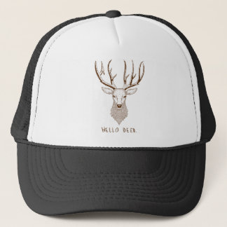Hello Deer Trucker Hat
