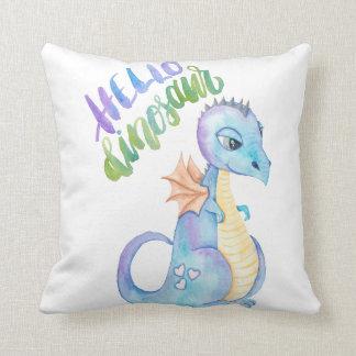 Hello Dinosaur Cushion
