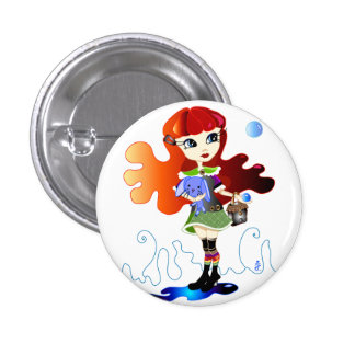 Hello Dollies: Fira and Bluebunny Pinback Buttons