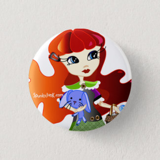 Hello Dollies: Fira and Bluebunny Headshot 3 Cm Round Badge
