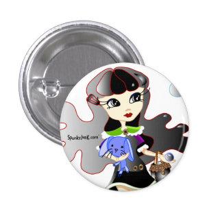 Hello Dollies: Fira and Bluebunny Headshot 3 Cm Round Badge