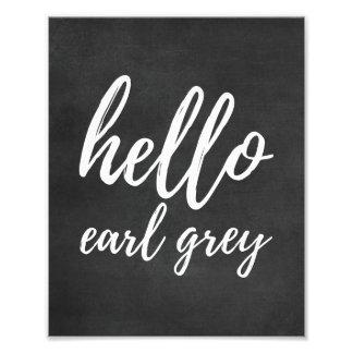 Hello Earl GreyLove Blackboard Kitchen Photo Print