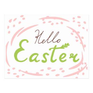Hello Easter Lettering | Doodles Postcard