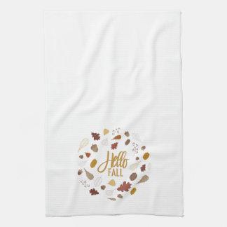 Hello Fall Foliage Kitchen Towel