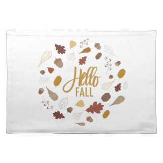 Hello Fall Foliage Placemat
