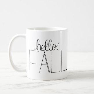 Hello Fall Hand-Lettered Mug