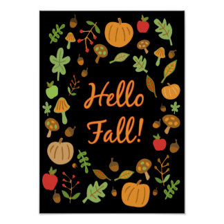 Hello Fall! Poster