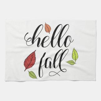 Hello Fall Tea Towel