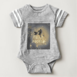 Hello fisher baby bodysuit
