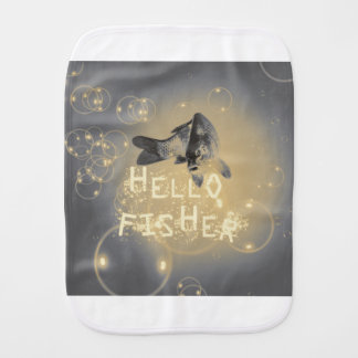 Hello fisher burp cloth