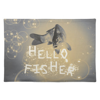 Hello fisher placemat