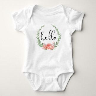Hello Floral Wreath Shirt