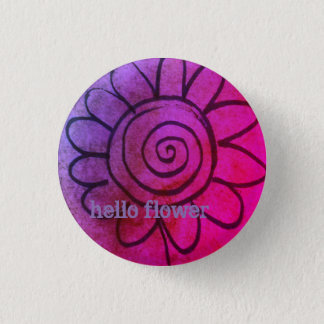 hello flower badge