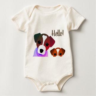 Hello French Dog Bodysuit