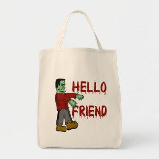 Hello Friend Creepy Frankenstein T shirts, Hoodies Tote Bag