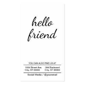 hello friend pack of standard business cards