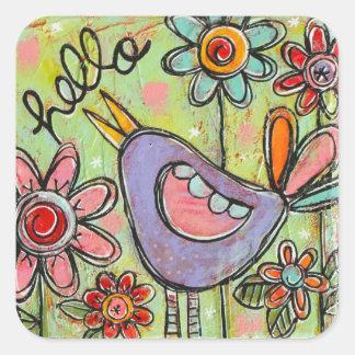 Hello Friend Square Sticker