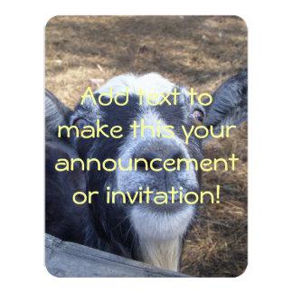 Hello Friendly Goat 11 Cm X 14 Cm Invitation Card