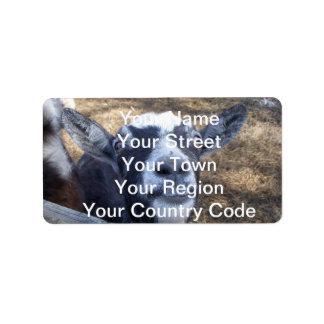 Hello Friendly Goat Address Label
