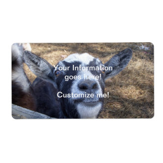Hello Friendly Goat Shipping Label