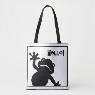 Hello Frog Tote Bag