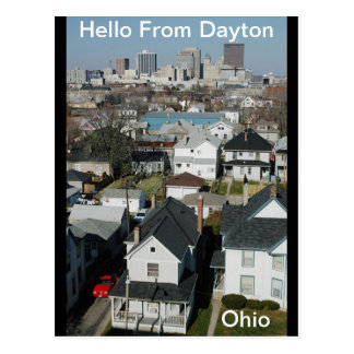 Hello From Dayton, Ohio  Postcard