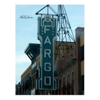 Hello from... Fargo, ND Postcard