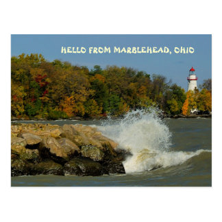 HELLO FROM MARBLEHEAD, OHIO POSTCARD