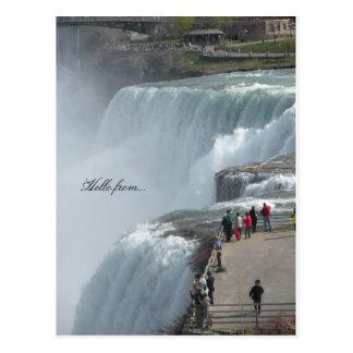 Hello from... Niagara Falls ny canada Postcard