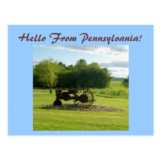 Hello From Pennsylvania! Postcard