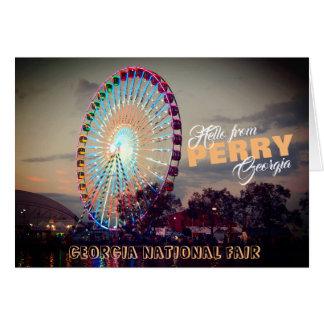 Hello from Perry Georgia, Georgia National Fair Card
