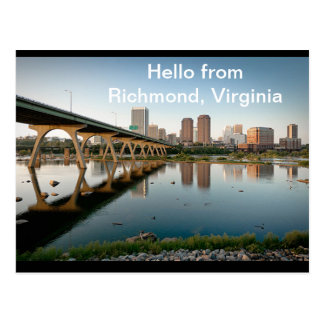 Hello From Richmond, Virginia Postcard