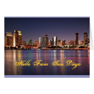 Hello From San Diego Note Card