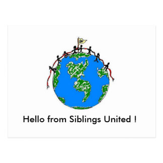 Hello from Siblings United ! Postcard