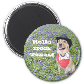 Hello from Texas! Refrigerator Magnets