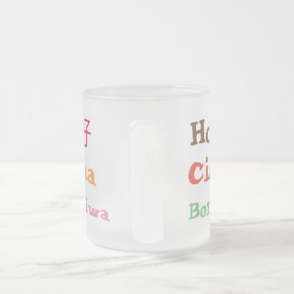 Hello Frosted Glass Coffee Mug